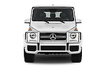 Car photography straight front view of a 2016 Mercedes Benz G-Class AMG-G63 5 Door SUV Front View