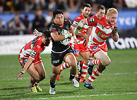Mason Lino.<br /> NRL Premiership rugby league. Vodafone Warriors v St George Illawarra. Mt Smart Stadium, Auckland, New Zealand. Friday 20 April 2018. &copy; Copyright photo: Andrew Cornaga / www.Photosport.nz