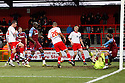 Chris Beardsley of Stevenage (l) shoots at goal. - Stevenage v Tranmere Rovers - npower League 1 - Lamex Stadium, Stevenage - 17th December 2011  .© Kevin Coleman 2011 ... ....  ...  . .
