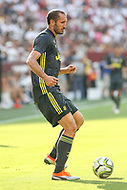 Landover, MD - August 4, 2018: Juventus defender Giorgio Chiellini (3) passes the ball during the match between Juventus and Real Madrid at FedEx Field in Landover, MD.   (Photo by Elliott Brown/Media Images International)