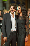 Spanish actors Yon Gonzalez and Blanca Romero poses for the photographers on the Orange Carpet for to present the TV serie Bajo Sospecha during of 6th 'FesTVal' Television Festival 2014 in Vitoria, northern Spain. September 05, 2014. (ALTERPHOTOS/Sirocco)