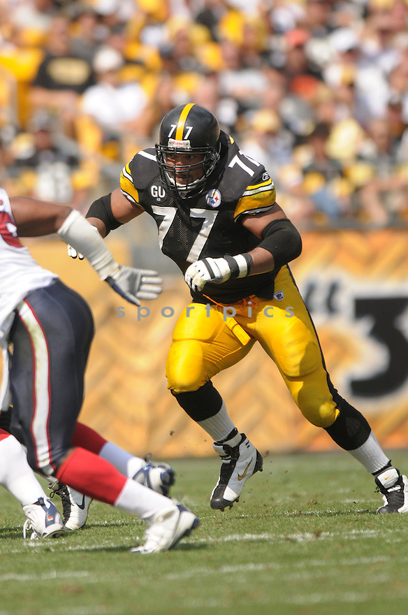 MARVEL SMITH, of the Pittsburgh Steelers, in action during the Steelers game against the Houston Texans  in Pittsburgh, Pennsylvania on September 7, 2008..The Pittsburgh Steelers won 38-17