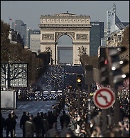 Hommage  &agrave; Johnny HALLYDAY<br /> descente des champs elysees<br /> &copy;  FERRANDIS/DALLE<br /> 9/12/2017