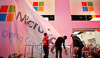 The new Microsoft's store is open at Times Square in New York, October 25, 2012. . Photo by Eduardo Munoz Alvarez / VIEW.