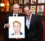 """Max Klimavicius with Josh Lucas from the cast of """"The Parisian Woman"""" honored with a Sardi's Wall of Fame Portrait on February 28, 2018 at Sardi's in New York City."""
