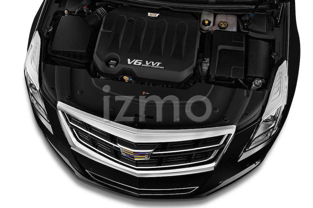 Car Stock 2016 Cadillac XTS - 4 Door Sedan Engine  high angle detail view