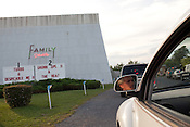 Travis Hines, 21, from Middletown, Virginia, waits in line to the entrance of Family Drive-In Theatre in Stephens City, Virginia on July 20, 2013. Travis has been going to Family Drive-In since he was ten years old. CREDIT: Lance Rosenfield/Prime