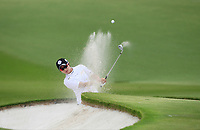 Hyo Joo Kim (KOR) in action on the 18th during Round 1 of the HSBC Womens Champions 2018 at Sentosa Golf Club on the Thursday 1st March 2018.<br /> Picture:  Thos Caffrey / www.golffile.ie<br /> <br /> All photo usage must carry mandatory copyright credit (&copy; Golffile | Thos Caffrey)