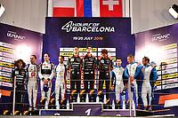 #26 G-DRIVE RACING (RUS) AURUS 01 GIBSON LMP2 ROMAN RUSINOV (RUS) JOB VAN UITERT (NLD) JEAN ERIC VERGNE (FRA) WINNER OVERALL<br /> #39 GRAFF (FRA) ORECA 07 GIBSON LMP2 TRISTAN GOMMENDY (FRA) ALEXANDRE COUGNAUD (FRA) JONATHAN HIRSCHI (CHE) SECOND OVERALL<br /> #37 COOL RACING (CHE) ORECA 07 GIBSON LMP2 NICOLAS LAPIERRE (FRA) ANTONIN BORGA (CHE) ALEXANDRE COIGNY (CHE) THIRD OVERALL