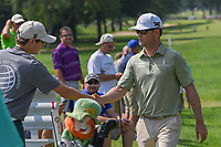 Zach Johnson (USA) shakes hands before the 3rd round of the World Golf Championships - Bridgestone Invitational, at the Firestone Country Club, Akron, Ohio. 8/4/2018.<br /> Picture: Golffile | Ken Murray<br /> <br /> <br /> All photo usage must carry mandatory copyright credit (© Golffile | Ken Murray)
