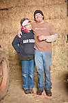 Families gather after Christmas at the Cuneo Ranch in California's Mother Lode. Kathleen and her son Clinton.