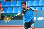 Hayato Funemizu (JPN), <br /> AUGUST 31, 2018 - Soft Tennis : <br /> Men's Team  Preliminary Round <br /> at Jakabaring Sport Center Tennis Courts <br /> during the 2018 Jakarta Palembang Asian Games <br /> in Palembang, Indonesia. <br /> (Photo by Yohei Osada/AFLO SPORT)