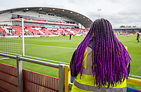 A Fleetwood Town steward looks out over the pitch <br /> <br /> Photographer Alex Dodd/CameraSport<br /> <br /> The EFL Sky Bet League One - Fleetwood Town v Accrington Stanley - Saturday 15th September 2018  - Highbury Stadium - Fleetwood<br /> <br /> World Copyright &copy; 2018 CameraSport. All rights reserved. 43 Linden Ave. Countesthorpe. Leicester. England. LE8 5PG - Tel: +44 (0) 116 277 4147 - admin@camerasport.com - www.camerasport.com