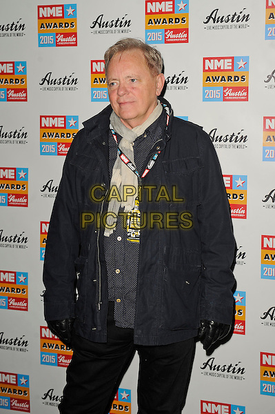 LONDON, ENGLAND - FEBRUARY 18: Bernard Sumner attending the NME Awards at Brixton Academy on February 18 2015 in London, England.<br /> CAP/MAR<br /> &copy; Martin Harris/Capital Pictures