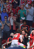 08/05/2016 Sky Bet League 1 Fleetwood Town v <br /> Crewe Alexandra<br /> Bobby Grant celebrates after scoring Fleetwood Town's opening goal
