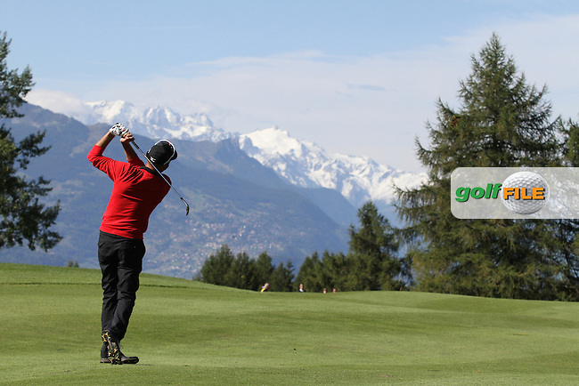 Marcus Brier (AUT) on Day 4 of the Omega European Masters 2012, Golf Club Crans-Sur-Sierre, Crans Montana, Switzerland, 01/09/12...(Photo Jenny Matthews/www.golffile.ie)