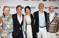 "LOS ANGELES, CA-  Siobhan Fahey, Bryan Rabin, Lisa Edelstein, James St. James, At 2017 Outfest Los Angeles LGBT Film Festival - Closing Night Gala Screening Of ""Freak Show"" at The Theatre at Ace Hotel, California on July 16, 2017. Credit: Faye Sadou/MediaPunch"