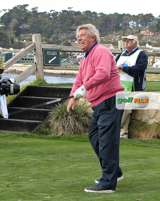 08 FEB 13 World renowned author John Maxwell during Friday's Second Round of The AT&T Pebble Beach National Pro-Am at The Pebble Beach Golf Links in Carmel, California. (photo:  kenneth e.dennis / kendennisphoto.com) Byline: Ken Dennis/ www.golffile.ie