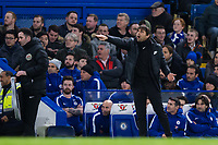 Chelsea manager Antonio Conte reacts <br /> <br /> Photographer Craig Mercer/CameraSport<br /> <br /> The Premier League - Chelsea v Crystal Palace - Saturday 10th March 2018 - Stamford Bridge - London<br /> <br /> World Copyright &copy; 2018 CameraSport. All rights reserved. 43 Linden Ave. Countesthorpe. Leicester. England. LE8 5PG - Tel: +44 (0) 116 277 4147 - admin@camerasport.com - www.camerasport.com