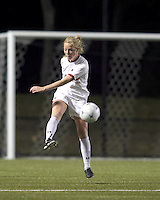 "Boston College midfielder Julia Bouchelle (12) clears the ball. Boston College defeated West Virginia, 4-0, in NCAA tournament ""Sweet 16"" match at Newton Soccer Field, Newton, MA."