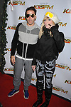 LOS ANGELES, CA. - December 05: Katie White (R) and Jules De Martino of The Ting Tings arrive at the KIIS FM's Jingle Ball 2009 at the Nokia Theatre L.A. Live on December 5, 2009 in Los Angeles, California.