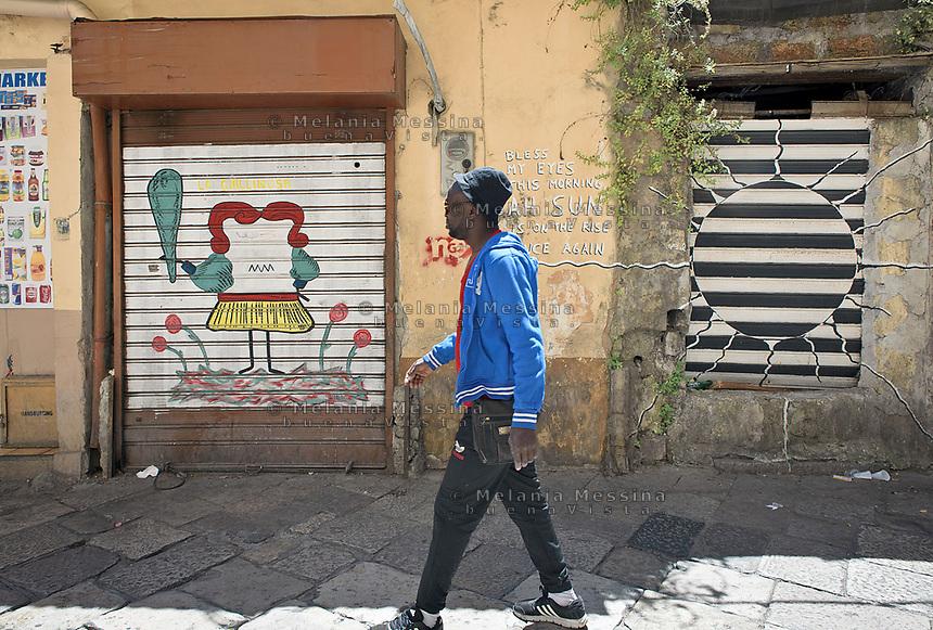 Il quartiere Ballarò a Palermo sempre più multietnico. Ballarò neighborood in Palermo is more and more multiethnic