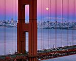 Moonrise, Golden Gate Bridge, San Francisco, California
