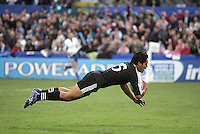 New Zealand fullback Trent Renata scores the second try during the U19 Championship final against South Africa at Ravenhill, Belfast.