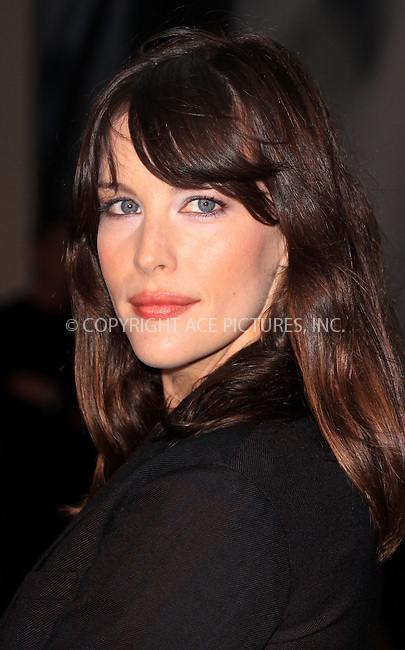 WWW.ACEPIXS.COM . . . . .  ..... . . . . US SALES ONLY . . . . .....September 22 2009, London....Liv Tyler at the Burberry Spring/Summer 2010 show at London Fashion Week on September 22, 2009 in London....Please byline: FAMOUS-ACE PICTURES... . . . .  ....Ace Pictures, Inc:  ..tel: (212) 243 8787 or (646) 769 0430..e-mail: info@acepixs.com..web: http://www.acepixs.com