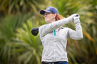 Breanna Gill during her first round on Sunday at the NZPWG Women's Pro-Am in Memory of Anita Boon, played at the Remuera Golf Course.