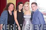 Pictured at the Kerry Community Awards in the Dromhall Hotel, Killarney on Sunday were Caroline Killeen, Kaylynn Lodder, Niki Reidy and Tony Coffey, NYP Killorglin.