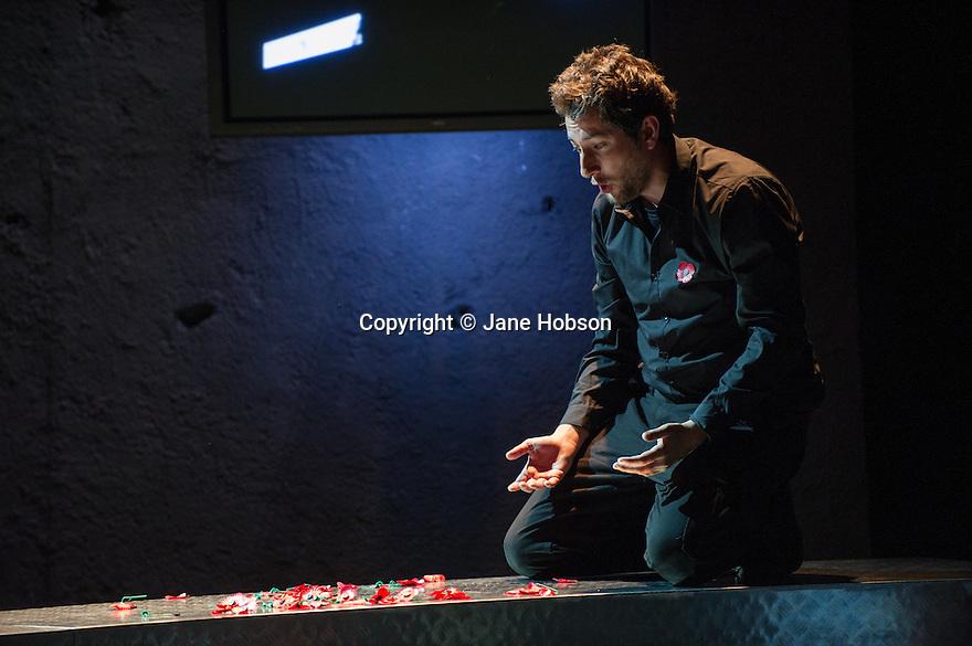 Edinburgh, UK. 30.08.2012. Scottish Opera and Music Theatre Wales present GHOST PATROL. Written by Louise Welsh and scored by Stuart MacRae. Picture shows: Nicholas Sharratt (as Sam). Photo credit: Jane Hobson.