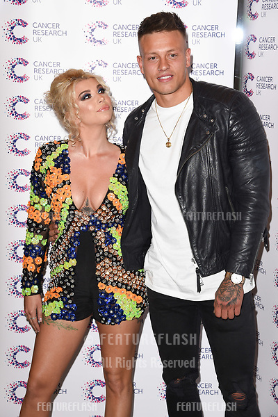 Olivia Buckland and Alex Bowen arriving at James Ingham&rsquo;s Jog On to Cancer, in aid of Cancer Research UK at The Roof Gardens in Kensington, London.  <br /> 12 April  2017<br /> Picture: Steve Vas/Featureflash/SilverHub 0208 004 5359 sales@silverhubmedia.com