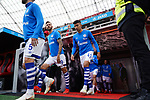 11.05.2019, BayArena, Leverkusen, GER, 1. FBL, Bayer 04 Leverkusen vs. FC Schalke 04 ,<br />  <br /> DFL regulations prohibit any use of photographs as image sequences and/or quasi-video<br /> <br /> im Bild / picture shows: <br /> Nassim Boujellab (FC Schalke #41), Guido Burgstaller (FC Schalke #19),  kommen aus der Kabine <br /> <br /> Foto &copy; nordphoto / Meuter