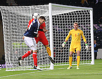 Jamie Mackie attacking in the Scotland v Macedonia FIFA World Cup Qualifying match at Hampden Park, Glasgow on 11.9.12.