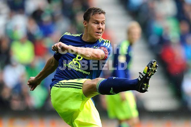 GRONINGEN - Voetbal, FC Groningen - Ajax,  Eredivisie, Euroborg, seizoen 2014-2015, 31-08-2014,   Ajax speler Niklas Moislander