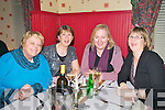 Former staff of Neo-Data, Listowel enjoying a Christmas get together at Fitzgerald's Restaurant, Listowel on Friday night last. L- R: Marie Stack, Mary Broderick, Mag Wren & Parricia O'Connor.