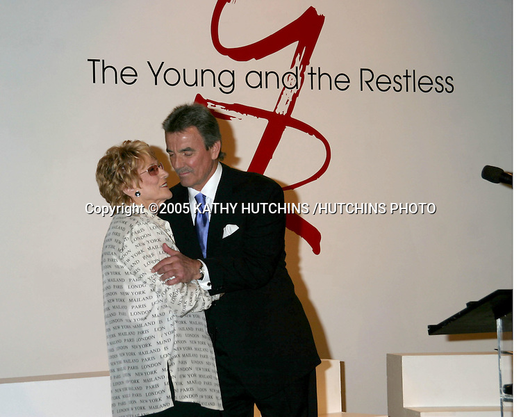 ©2005 KATHY HUTCHINS /HUTCHINS PHOTO.ERIC BRAEDEN CELEBRATES 25 YEARS AS ERIC BRAEDEN ON THE YOUNG AND THE RESTLESS.LOS ANGELES, CA.JANUARY 31, 2005..JEANNE COOPER.ERIC BRAEDEN