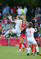 Boyds, MD - Saturday Sept. 03, 2016: Samantha Mewis, Joanna Lohman during a regular season National Women's Soccer League (NWSL) match between the Washington Spirit and the Western New York Flash at Maureen Hendricks Field, Maryland SoccerPlex.
