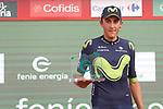 Marc Soler Gimenez (ESP) Movistar Team wins the day's combativity award at the end of Stage 9 of the 2017 La Vuelta, running 174km from Orihuela Ciudad del Poeta Miguel Hernandez to Cumbre del Sol, El Poble Nou de Benitatxell, Spain. 27th August 2017.<br /> Picture: Unipublic/&copy;photogomezsport | Cyclefile<br /> <br /> <br /> All photos usage must carry mandatory copyright credit (&copy; Cyclefile | Unipublic/&copy;photogomezsport)