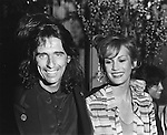 Alice Cooper 1978 with wifr Sheryl Cooper at Sgt Pepper movie premiere.© Chris Walter.