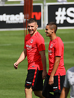 Ante Rebic (Eintracht Frankfurt), Mijat Gacinovic (Eintracht Frankfurt) - 08.08.2018: Eintracht Frankfurt Training, Commerzbank Arena<br /> <br /> DISCLAIMER: <br /> DFL regulations prohibit any use of photographs as image sequences and/or quasi-video.