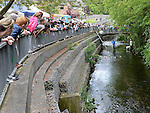 The large crowd who turned out to watch the Duck Derby in Dunleer. Photo:Colin Bell/pressphotos.ie