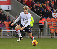 Cameron McGeehan of Luton Town in action during the Sky Bet League 2 match between Blackpool and Luton Town at Bloomfield Road, Blackpool, England on 17 December 2016. Photo by Liam Smith.