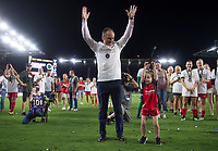 Orlando, FL - Saturday October 14, 2017: Mark Parsons during the NWSL Championship match between the North Carolina Courage and the Portland Thorns FC at Orlando City Stadium.   The Portland Thorns won the championship, 1-0.