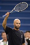 SHANGHAI, CHINA - OCTOBER 12:  James Blake of the US acknowledges the crowd after defeating Ivo Karlovic of Croatia during day two of 2009 Shanghai ATP Masters 1000 at the Qi Zhong Tennis Centre in Shanghai. Photo by Victor Fraile / The Power of Sport Images