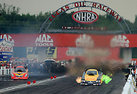 31 August - 3 September, 2012, Indianapolis, Indiana USA, Jeff Arend, DHL, Toyota Camry, funny car @2012, Mark J. Rebilas