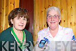 Public Health Nurse Christine Walsh checks the sugar levels in Maureen O'Connor Cordal blood at the Positive Ageing public day in McCarthy's Castleisland on Friday   Copyright Kerry's Eye 2008