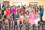 Brid O'Sullivan, Killarney seated centre who celebrated her hen party with her friends in the Castlerosse Hotel, Killarney on Saturday night..