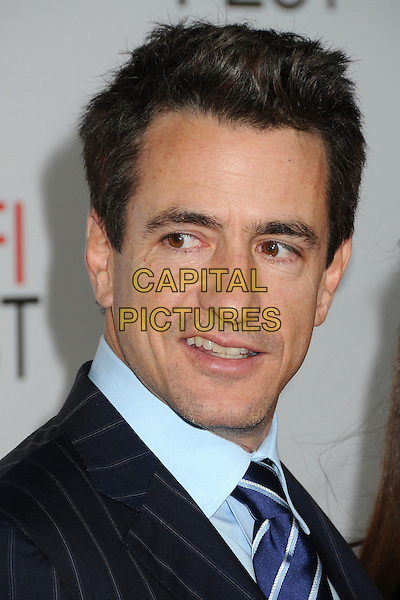 "Dermot Mulroney.AFI Fest 2011 Opening Night Gala Premiere of ""J. Edgar"" held at Grauman's Chinese Theatre, Hollywood, California, USA..November 3rd, 2011.headshot portrait black pinstripe blue.CAP/ADM/BP.©Byron Purvis/AdMedia/Capital Pictures."